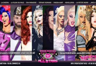Drag Factor All Stars Sabato 13 Gennaio a Roma
